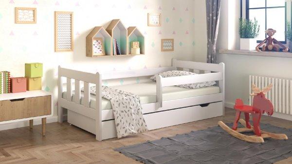 16a7927634242 Detská posteľ Irma 180x80 cm + zásuvka + matrac - biela | www ...
